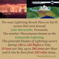 Catatumbo lightning Over And Around Lake Maracaibo, Venezuela