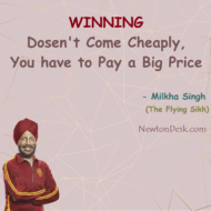 Winning Dosen't Come Cheaply, You Have To Pay A Big Price