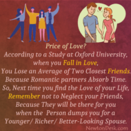 When You Fall In Love, You Lose Your Two Close Friends