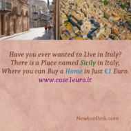 You Can Buy A House At Sicily Italy In Just €1 Euro