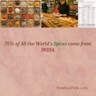 75% of All The World's Spices Come From India