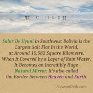 Salar De Uyuni or Salar De Tunupa In Bolivia Is the Largest Salt Flat