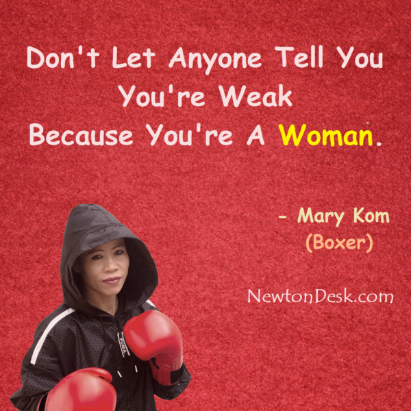 You Are Not Weak Because You Are Women Power