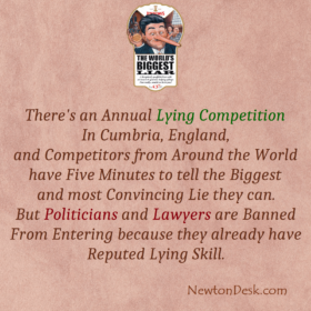 There's An Annual Worlds Biggest Liar Competition In Cumbria, England
