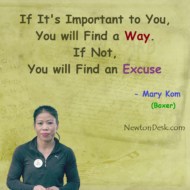 If It's Important To You, You Will Find A Way