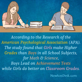 Girls Make Higher Grades Than Boys In All School Subjects