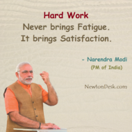 Hard Work Never Brings Fatigue It Brings Satisfaction