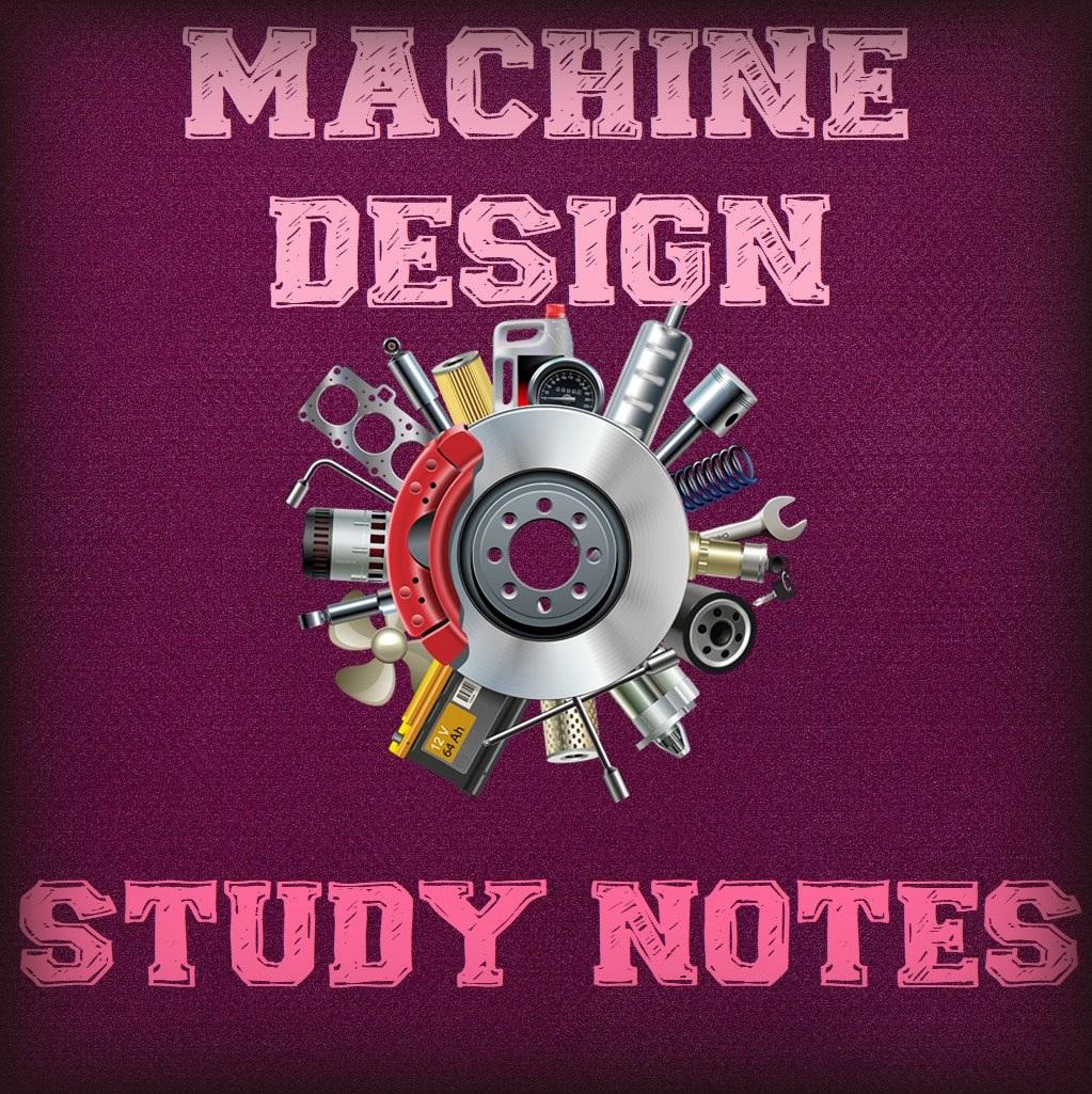 machine design handwritten notes