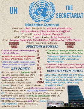 UN United Nations The Secretariat Security General