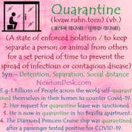 Quarantine Meaning – To Isolate From Normal Relations or Communication