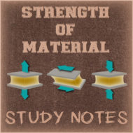 Strength of Material Study Notes (Hand Written)