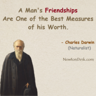 A Man's Friendships One of The Best Measures