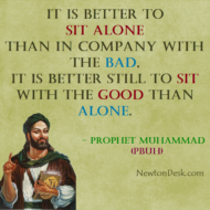 Sit Alone Than With The Bad And Sit With The Good Than Alone