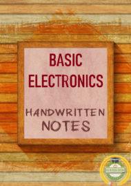 Basic Electronics Handwritten Color Notes PDF