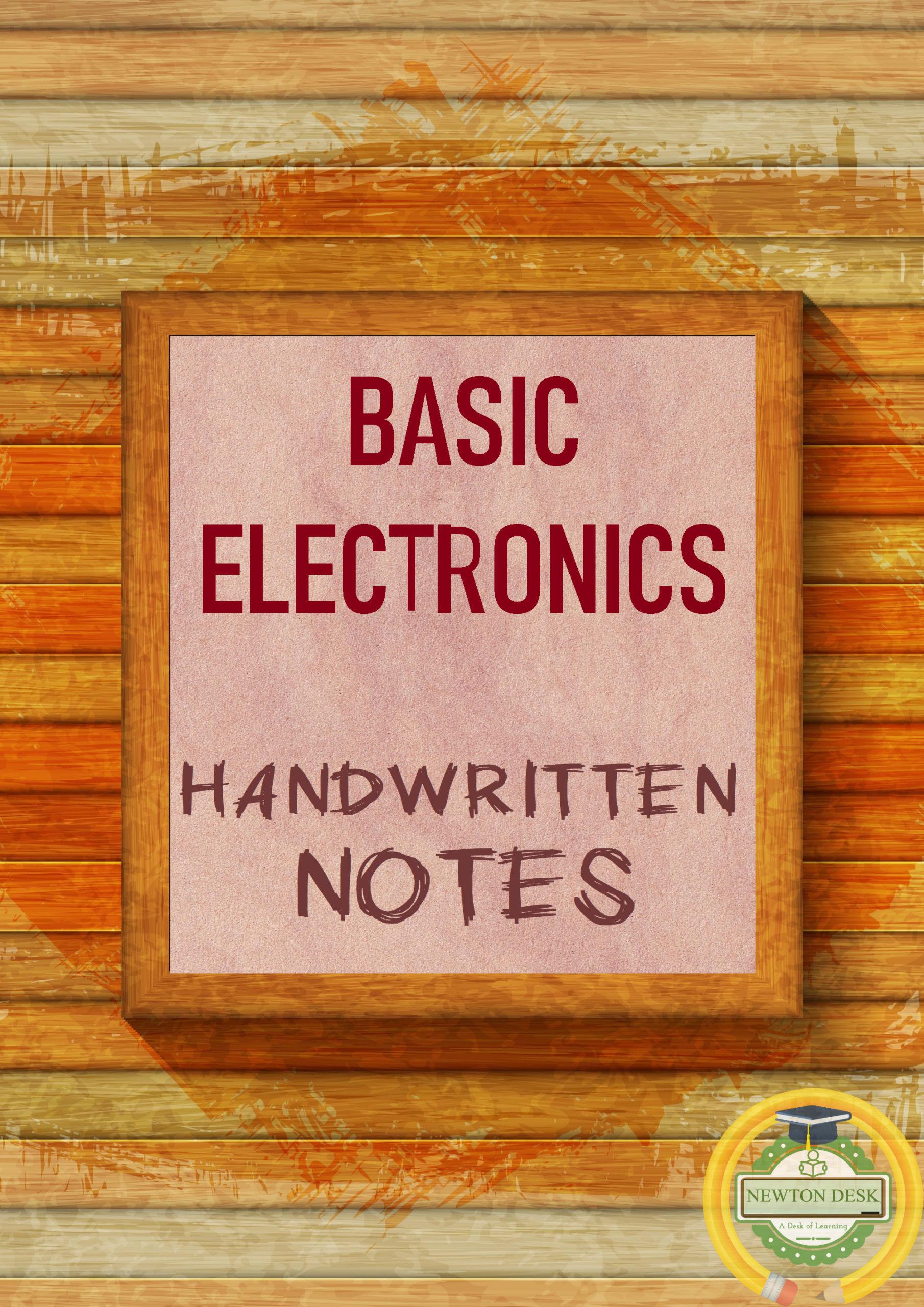 basic electronics handwritten notes pdf for gate & ies