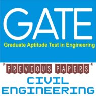 GATE Previous 20 Year Papers For Civil Engineering