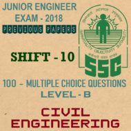 SSC JE Previous Question Paper 2018 Shift 10 (Civil Engineering)