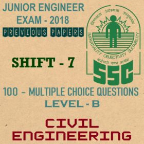 SSC JE Previous Question Paper 2018 Shift 7 (Civil Engineering)