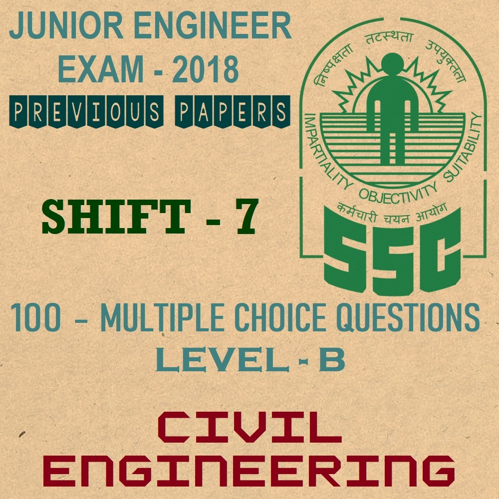 ssc je previous year question papers 2018 shift 7 civil engineering