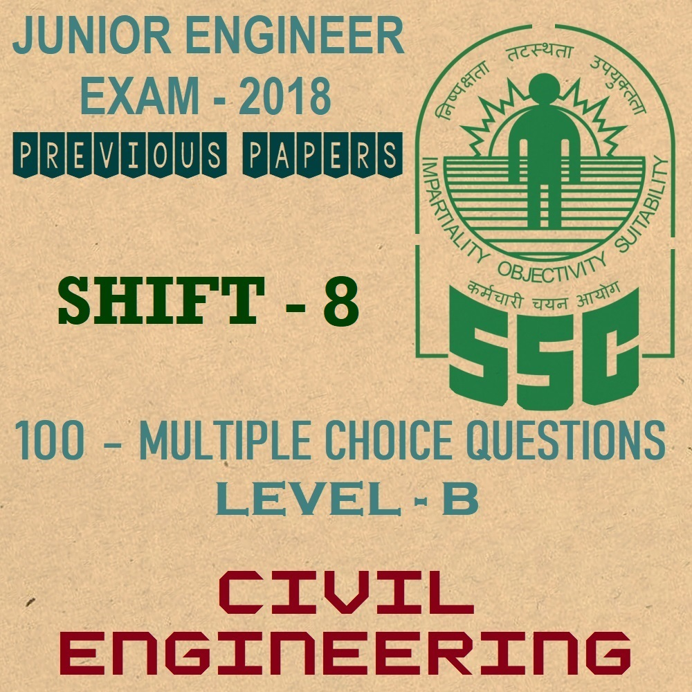ssc je previous year question papers 2018 shift 8 civil engineering
