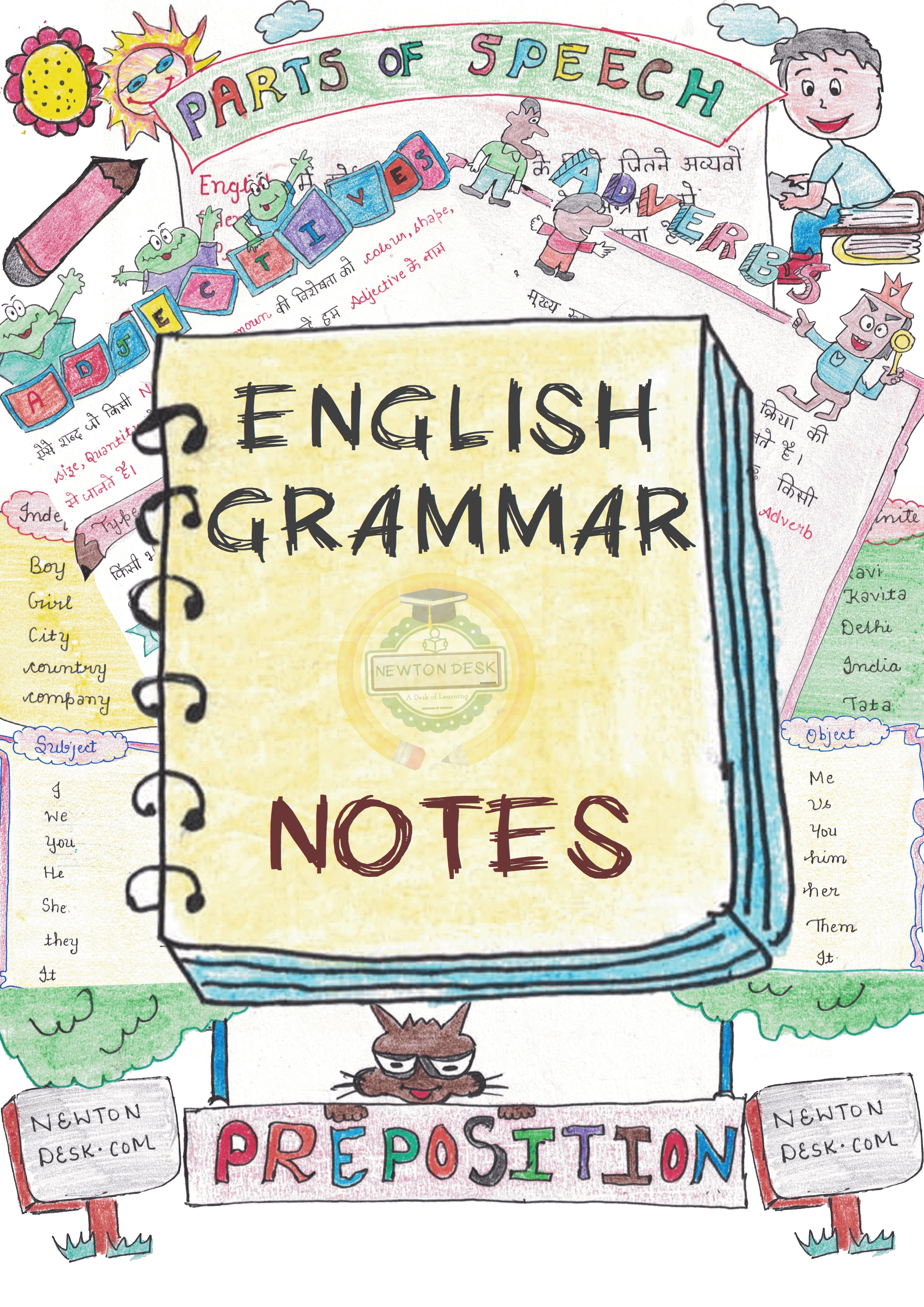 english grammar handwritten color Notes in hindi for ssc ntpc