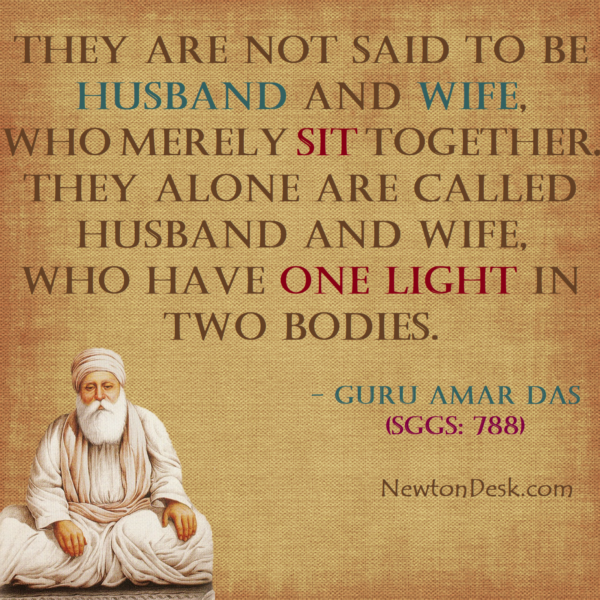 Husband and Wife Is One Light In Two Bodies – Guru Amar Das JI