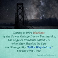 Los Angeles Residents Call 911 By Saw Milky Way During 1994 Blackout
