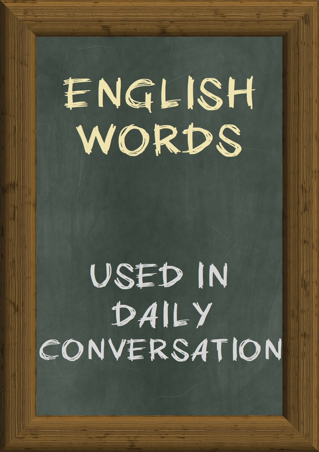 daily use english words list