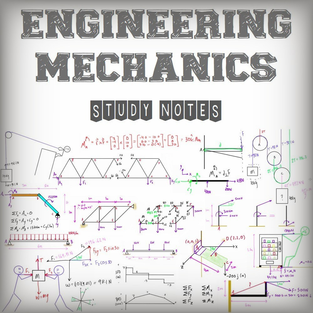 engineering mechanics handwritten study notes