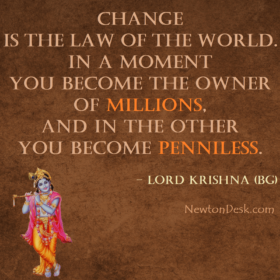 Change Is The Law of The World By Shri Krishna