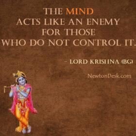 The Mind Acts Like An Enemy – Bhagavad Gita