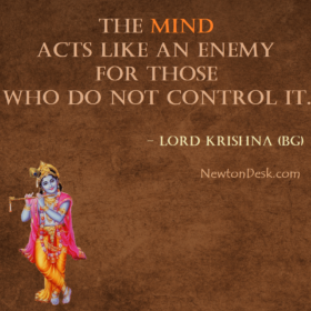 The Mind Acts Like An Enemy – Bhagavad Gita