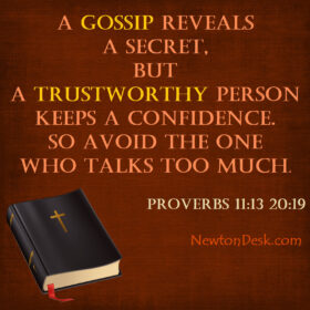 A Gossip Reveals A Secret Not Confidence