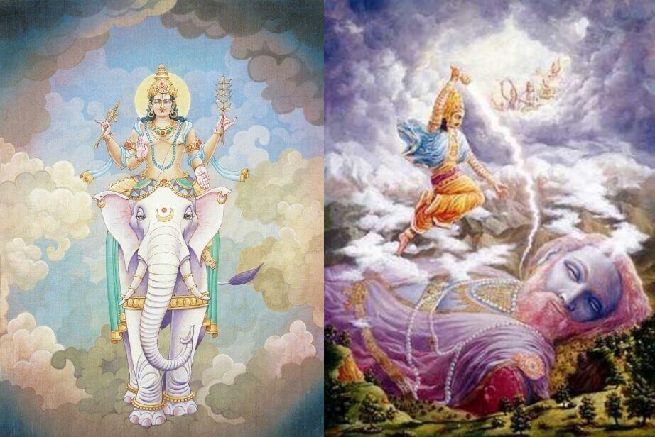 indra brahmana hindu mythology on salty water