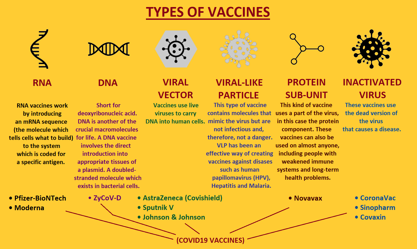 types of covid19 vaccine