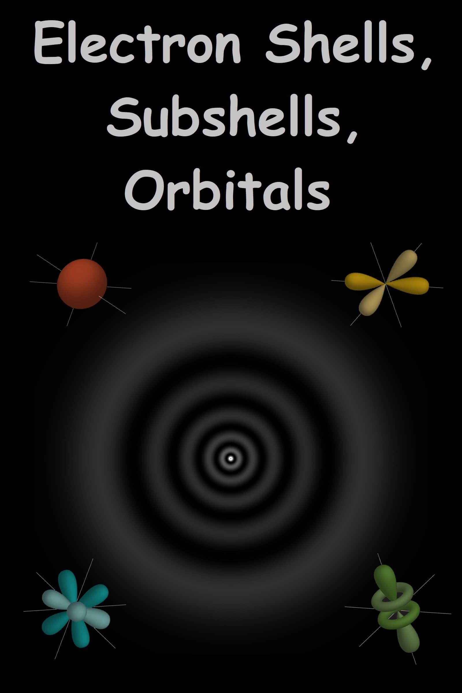 electron shells subshells and orbitals