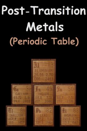 Post Transition Metals On The Periodic Table